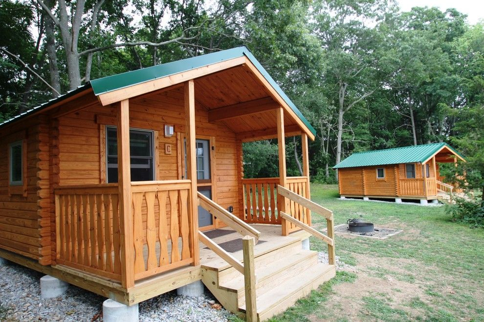 Conestoga Log Cabins for a Rustic Exterior with a Hunting Cabin and Shenandoah 232 Sqf by Conestoga Log Cabins