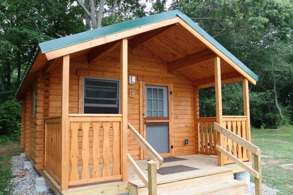 Conestoga Log Cabins for a Rustic Exterior with a Log Cabin Kit and Shenandoah 232 Sqf by Conestoga Log Cabins
