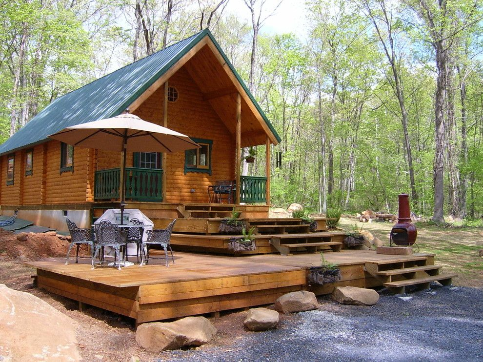 Conestoga Log Cabins for a Rustic Exterior with a Vacation Cabin and Vacationer 727 Sqf by Conestoga Log Cabins