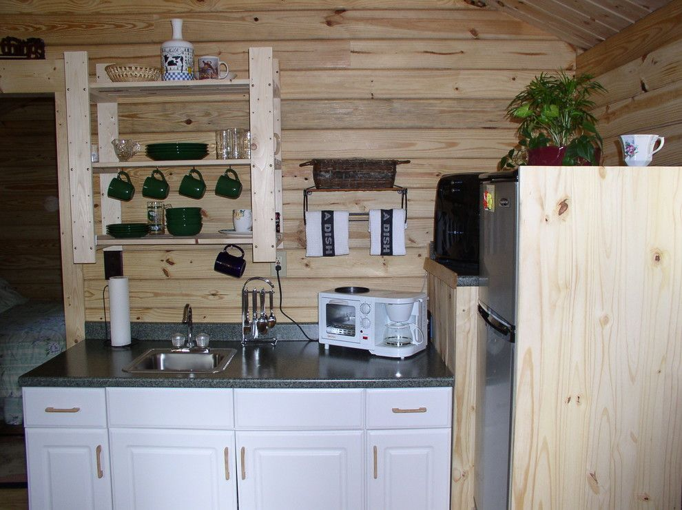 Conestoga Log Cabins for a Rustic Kitchen with a Log Cabin Kits and Serenity 280 Sqf by Conestoga Log Cabins