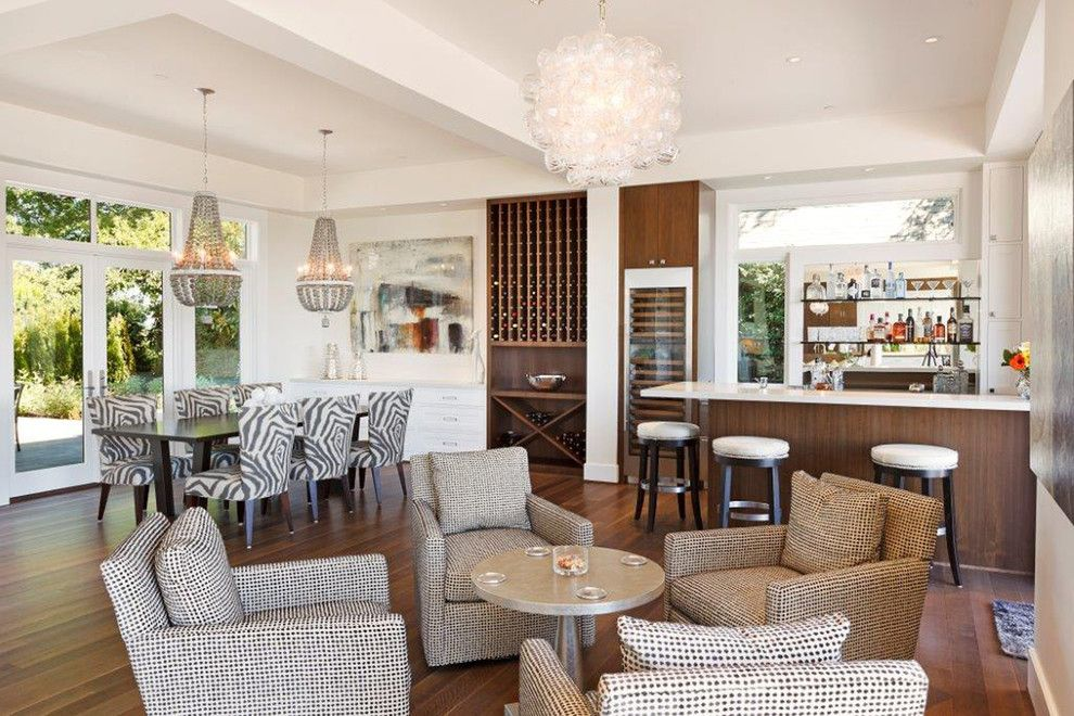 Contract Furnishing Mart for a Contemporary Family Room with a Zebra Print and Northwest Contemporary Home by Contract Furnishings Mart