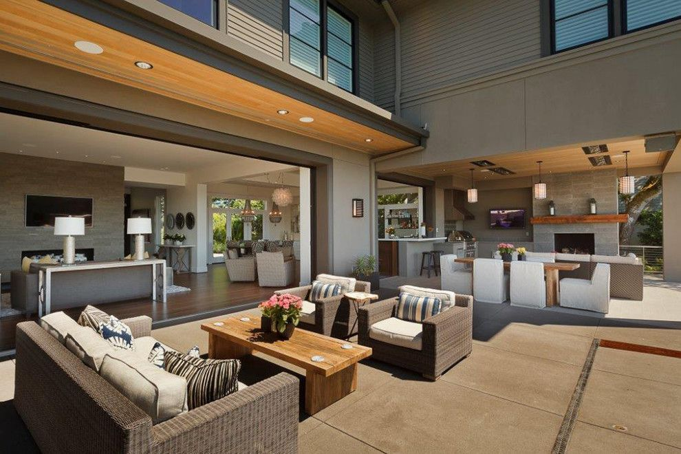 Contract Furnishing Mart for a Contemporary Patio with a Sliding Exterior Doors and Northwest Contemporary Home by Contract Furnishings Mart