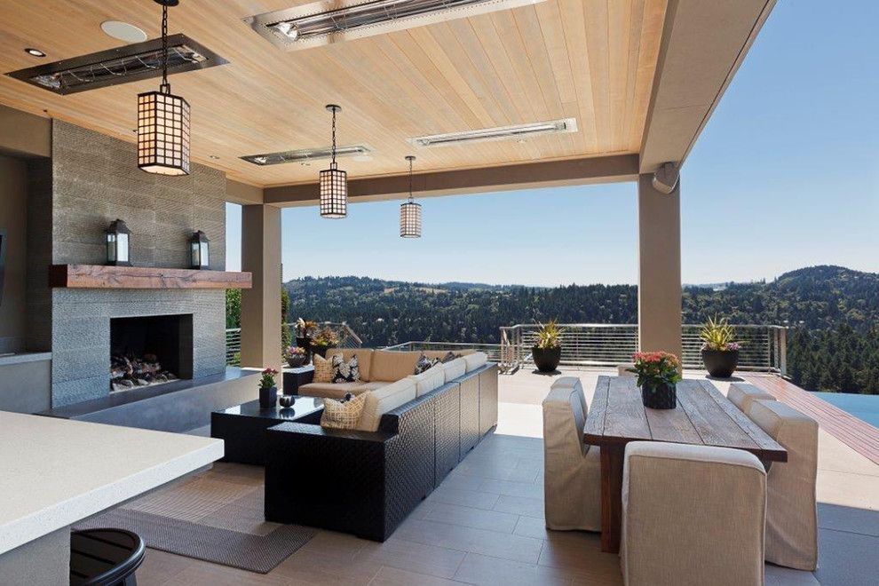 Contract Furnishing Mart for a Contemporary Patio with a Wicker Outdoor Furniture and Northwest Contemporary Home by Contract Furnishings Mart