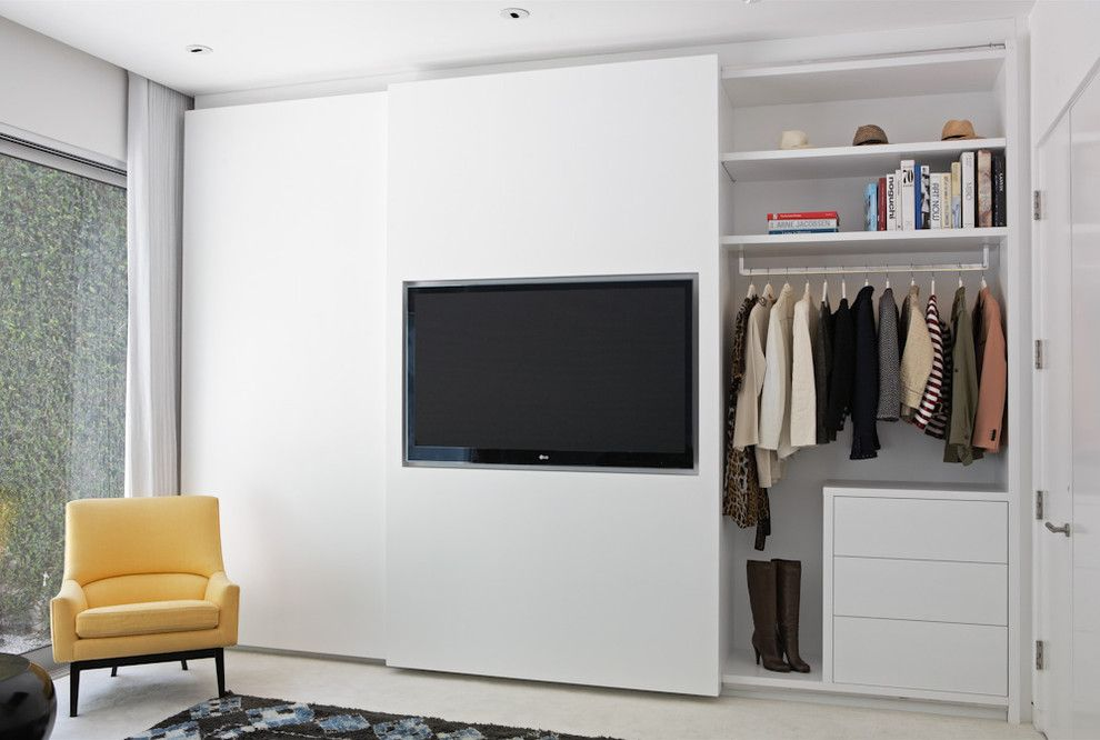 Contractors Wardrobe for a Contemporary Closet with a Contemporary and a Designer's Closet by Lisa Adams, La Closet Design