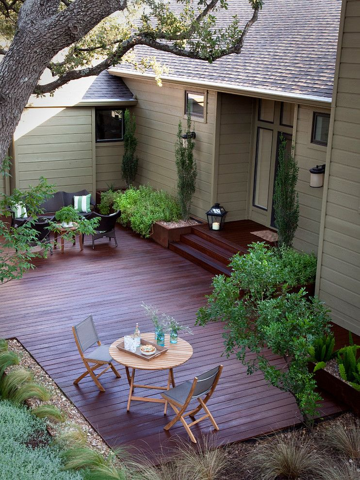 Copenhagen Furniture Austin for a Traditional Deck with a Outdoor Space and Cat Mountain by Austin Outdoor Design