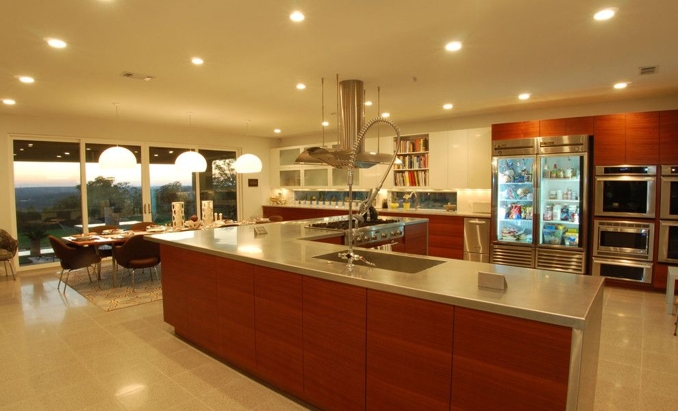 Core Power Yoga Austin for a Contemporary Kitchen with a Pendant Lighting and Knollwood Kitchen by Cornerstone Architects