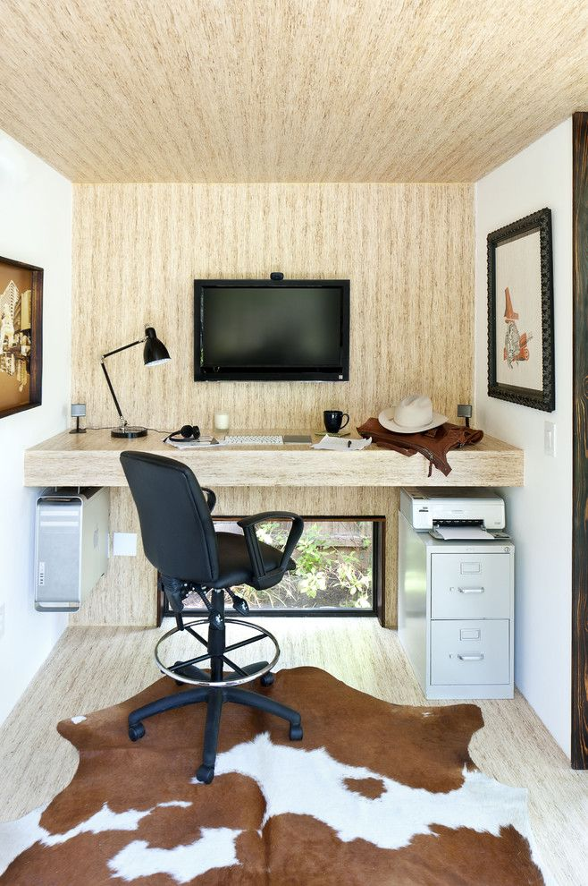 Core Power Yoga Austin for a Modern Home Office with a Modern and 92 Square Foot Backyard Office by Sett Studio