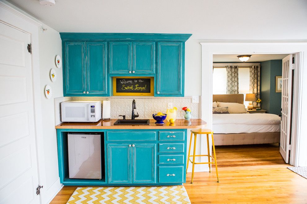 Core Power Yoga Austin for a Traditional Kitchen with a Mini Kitchen and Sweet Lemon Inn by Spark Interior Style