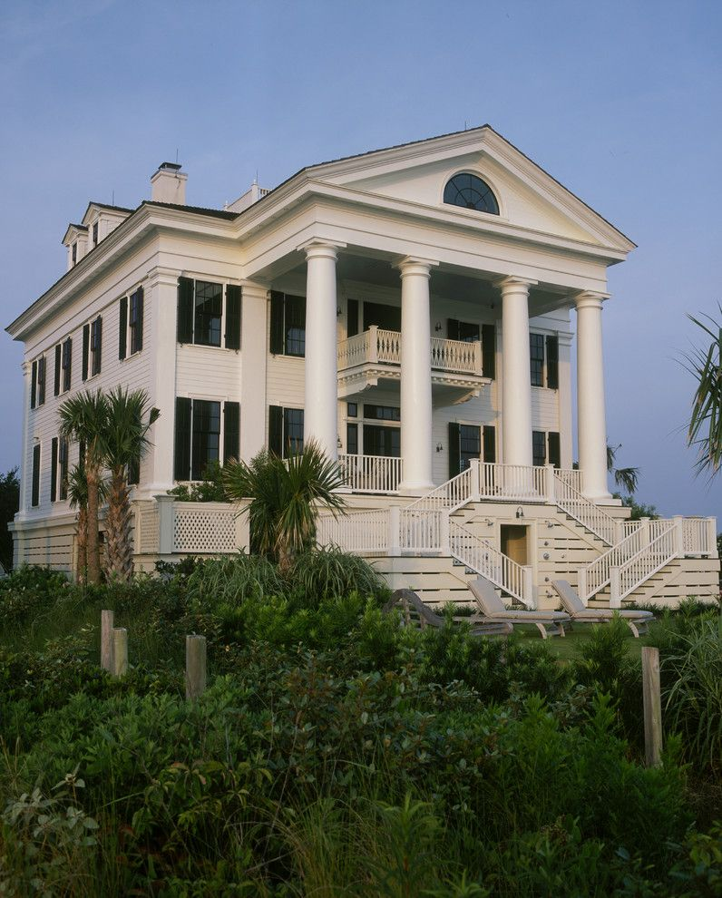 Corinthian Column for a Traditional Exterior with a White Exterior and Chadsworth Cottage by Chadsworth Columns