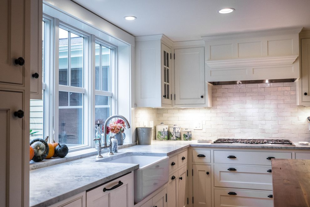 Corrados for a Traditional Kitchen with a Traditional and Southern Maine Kitchen by Joseph Corrado Photography