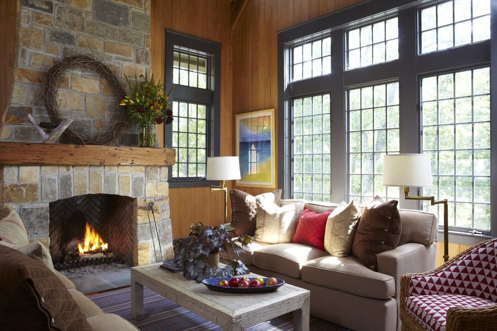Cort Clearance Furniture for a Rustic Living Room with a Seating Area and Day Residence Interiors by Jeffrey Dungan Architects