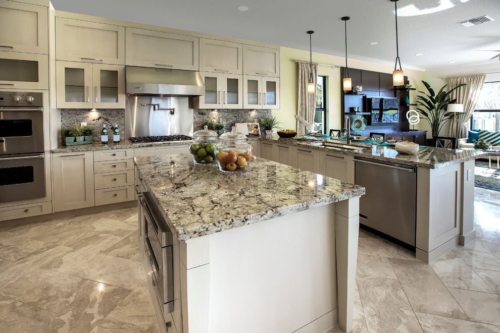 Cosmos Granite for a Contemporary Kitchen with a Granite Countertop and Cosmos Granite Expressions by Cosmos Granite & Marble