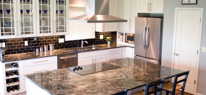 Cosmos Granite for a Eclectic Kitchen with a Cosmos Granite and Surrey Ridge Residence by AK Interior Design