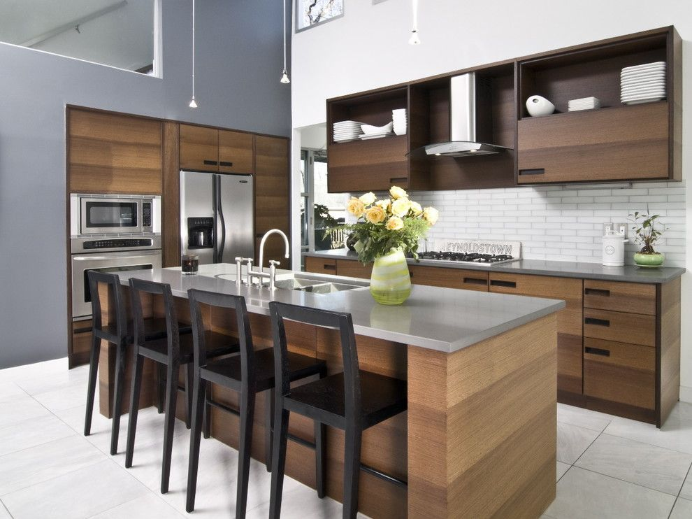 Costco Cabinets for a Contemporary Kitchen with a Loft and Flat Shoals Kitchen by West Architecture Studio