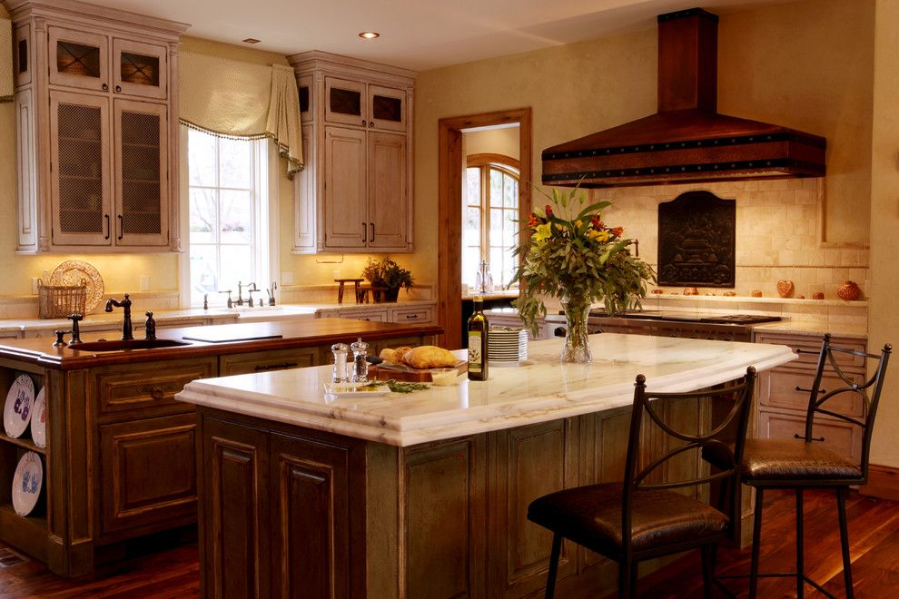 Countertop Edges for a Rustic Kitchen with a Handles and Jenny Rausch by Karr Bick Kitchen and Bath