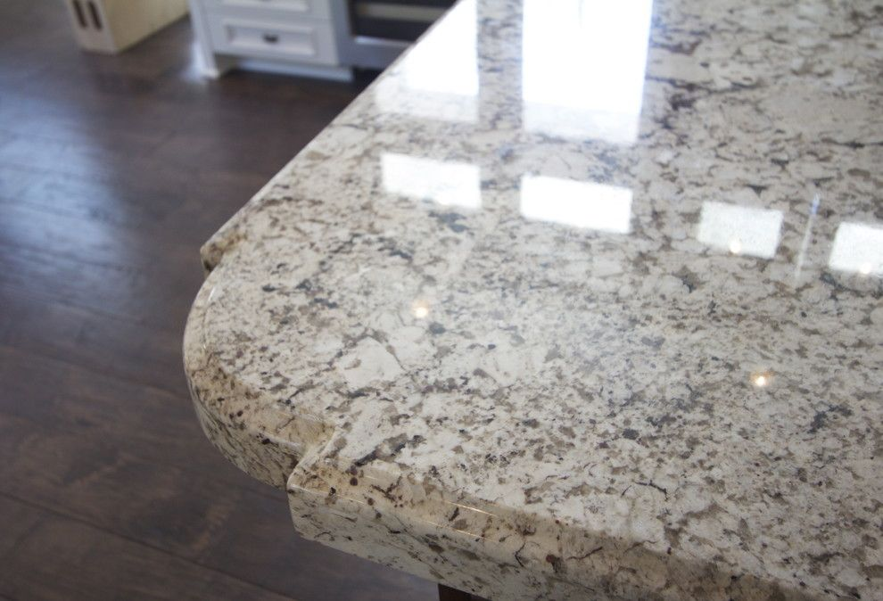 Countertop Edges for a  Spaces with a Contemporary Bar Stools and Granite Countertops by Robeson Design