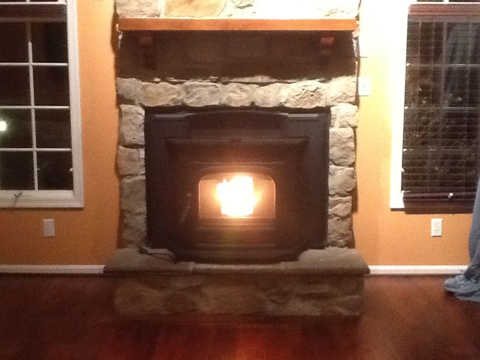 Courtland Hearth for a  Spaces with a Harman Pellet Insert and Finished Installs by Courtland Hearth & Hardware