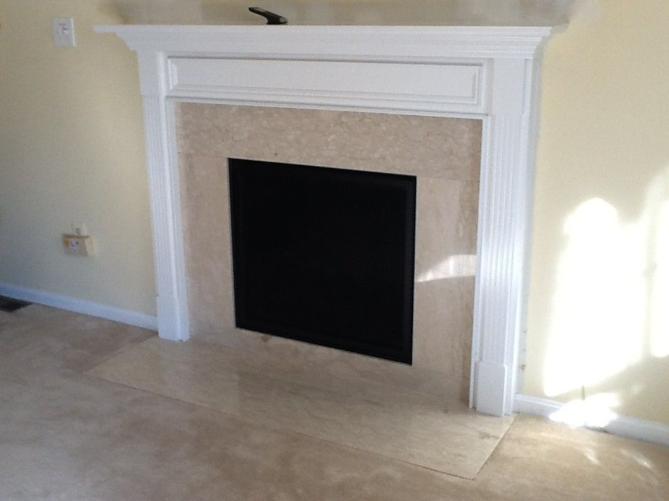 Courtland Hearth for a  Spaces with a Marble and Finished Installs by Courtland Hearth & Hardware