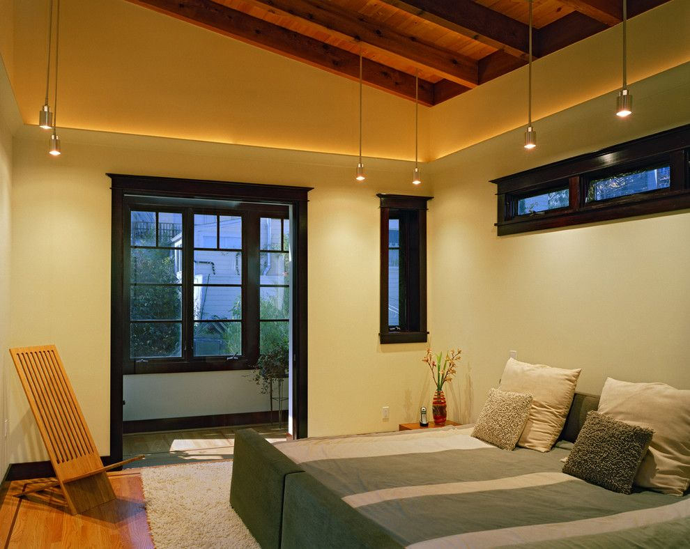 Coved Ceiling for a Contemporary Bedroom with a Sloped Ceiling and Douglass Street by Rossington Architecture