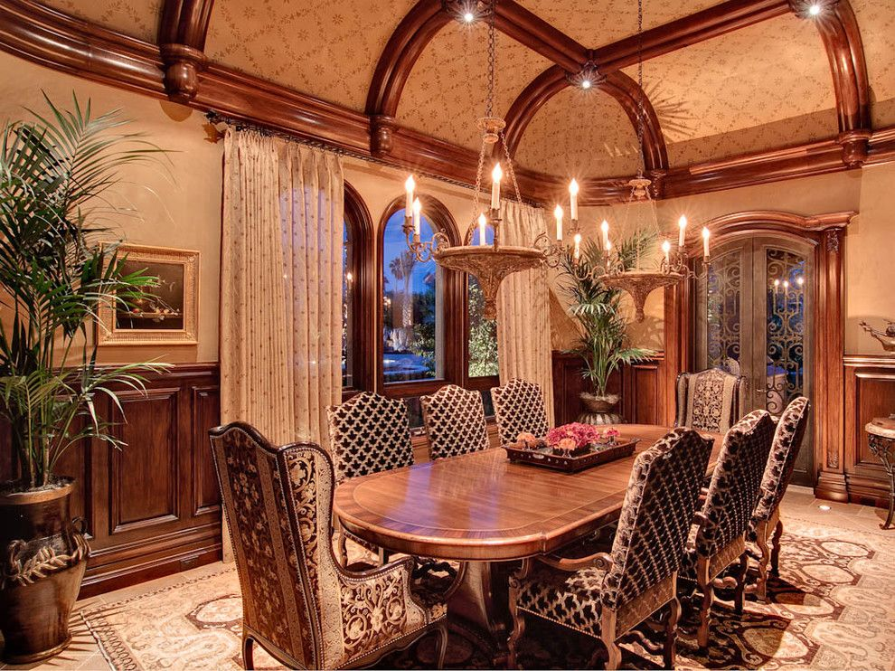 Coved Ceiling for a Traditional Dining Room with a Wood Trim and Dining Room by R.j. Gurley Construction