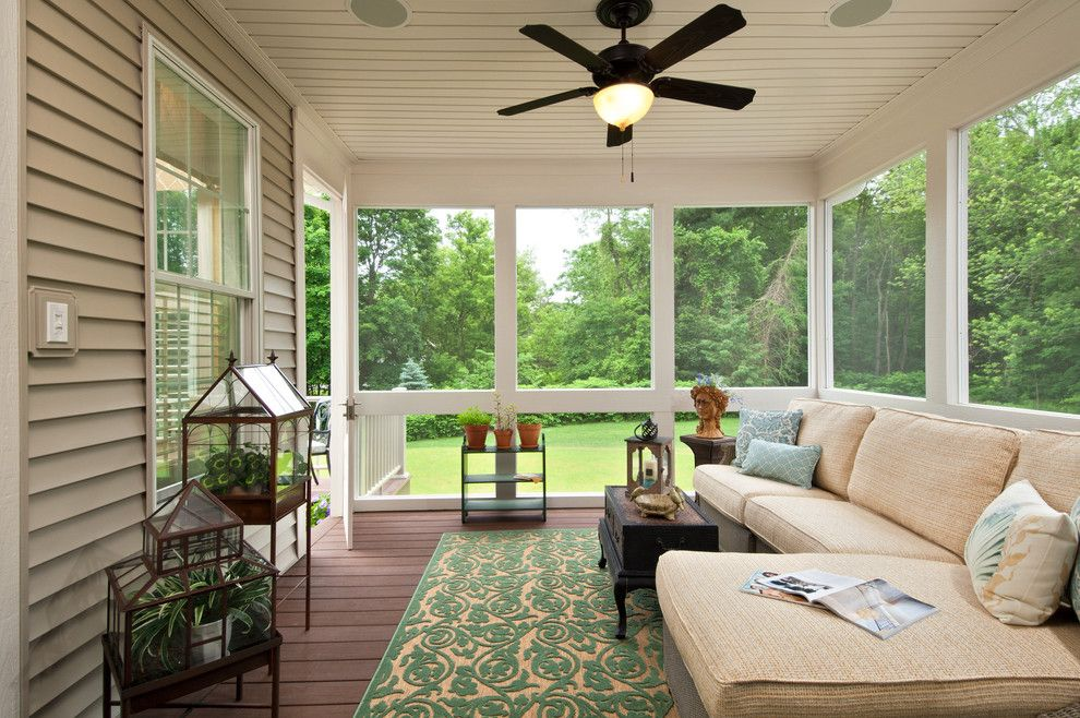 Coved Ceiling for a Traditional Porch with a Outdoor Living Space and 2012 Parade of Homes by Belmonte Builders