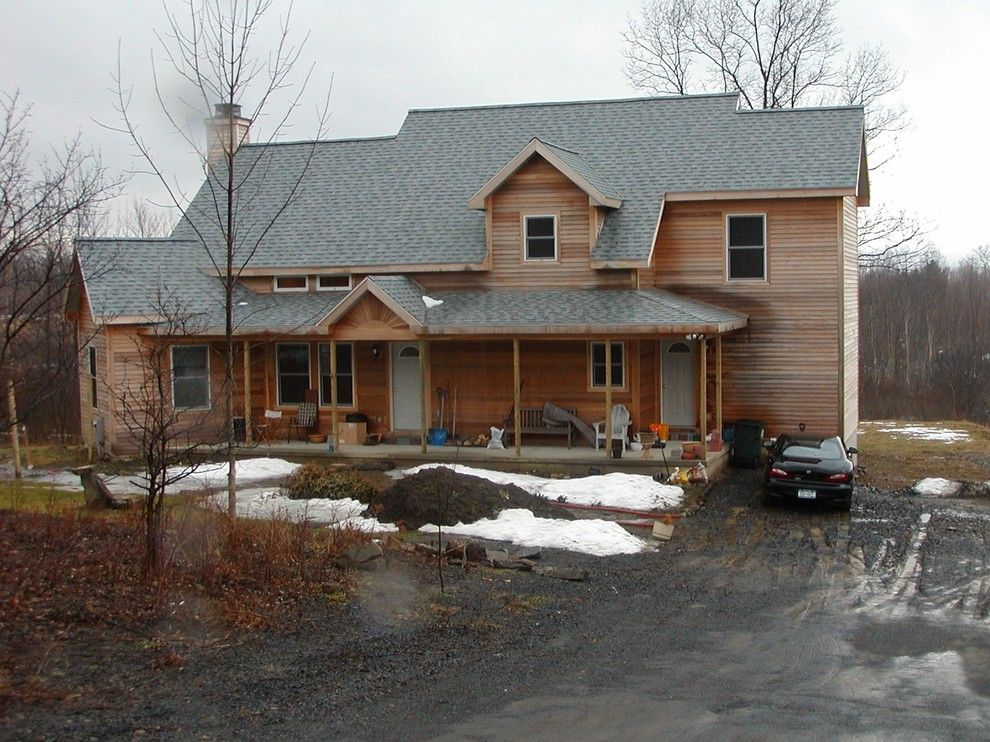 Coventry Log Homes for a Contemporary Spaces with a Kitchen and Guilderland Home by M. Besse Architect, Pllc