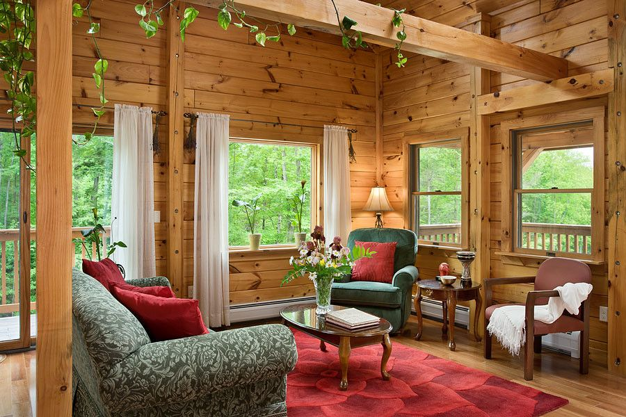Coventry Log Homes for a  Living Room with a Log Cabin and Log Homes & Cabins   Coventry Log Homes   Custom Craftsman #2 by Coventry Log Homes