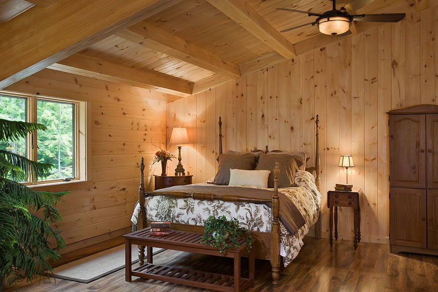 Coventry Log Homes for a Rustic Bedroom with a Log Cabins and Log Homes & Cabins   Coventry Log Homes   Custom Craftsman by Coventry Log Homes