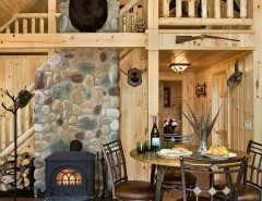 Coventry Log Homes for a Rustic Dining Room with a Log Cabins and Log Homes & Cabins - Coventry Log Homes - the Ascutney by Coventry Log Homes