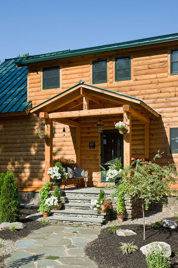 Coventry Log Homes for a Rustic Entry with a Log Cabin and Log Homes & Cabins   Coventry Log Homes   Custom Craftsman #3 by Coventry Log Homes