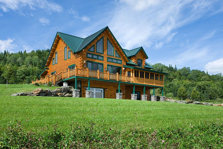Coventry Log Homes for a Rustic Exterior with a Coventry Log Homes and Log Homes & Cabins   Coventry Log Homes   the Bear Rock by Coventry Log Homes