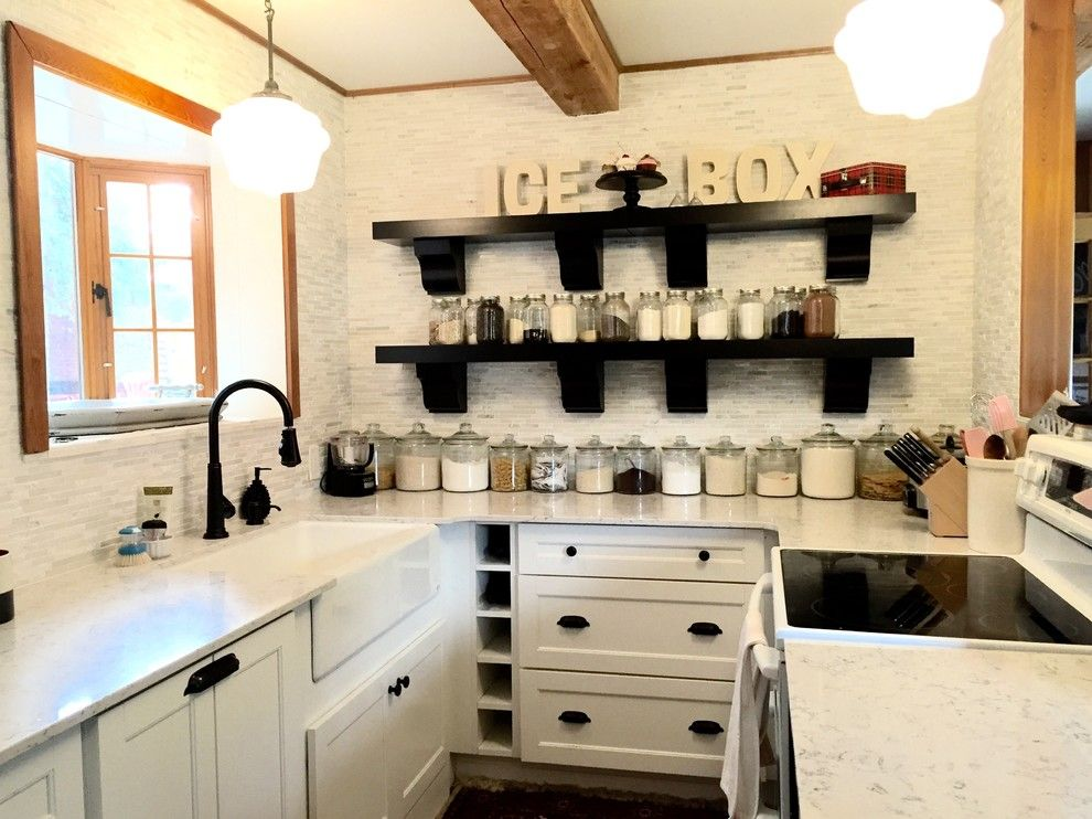 Cox Interiors for a Farmhouse Spaces with a Farmhouse and the Cabin in the Woods by Susan Cox Interiors Inc.
