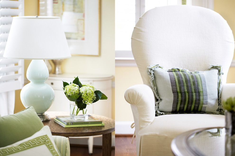 Cox Interiors for a Traditional Living Room with a Linen Chair and Family Home by Kara Cox Interiors