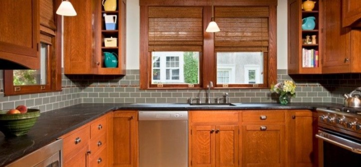 Craftmaster Doors for a Traditional Kitchen with a Traditional and Culinary Craftsman by Teakwood Builders, Inc.