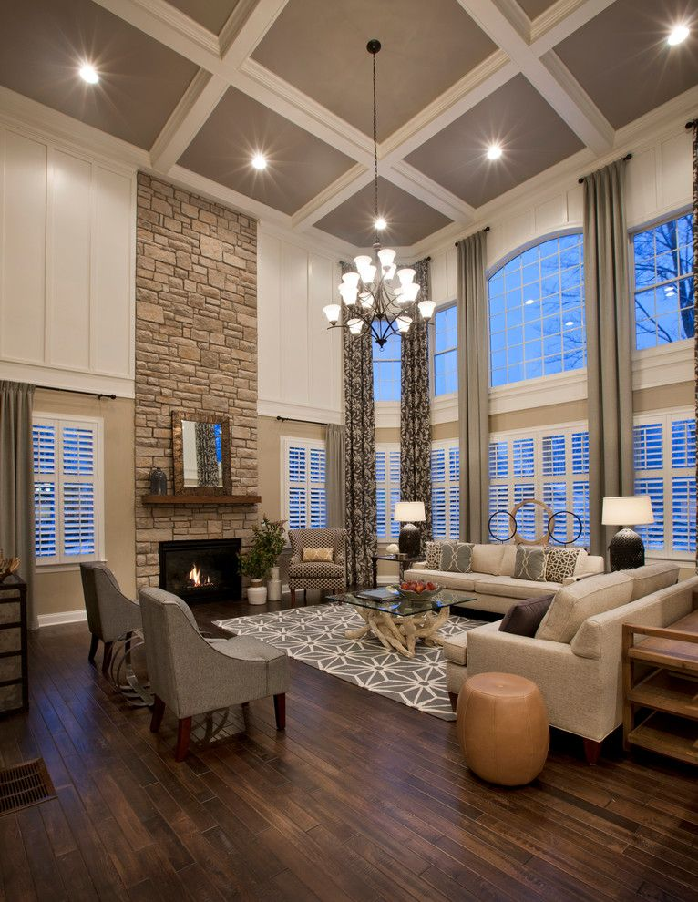 Craftmaster Doors for a Traditional Living Room with a Gray Armchair and Estates at Cohasset Elkton by Mary Cook