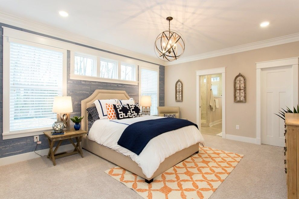 Craftmaster Doors for a Transitional Bedroom with a Wood Nightstand and Townsend by Craftmaster Homes