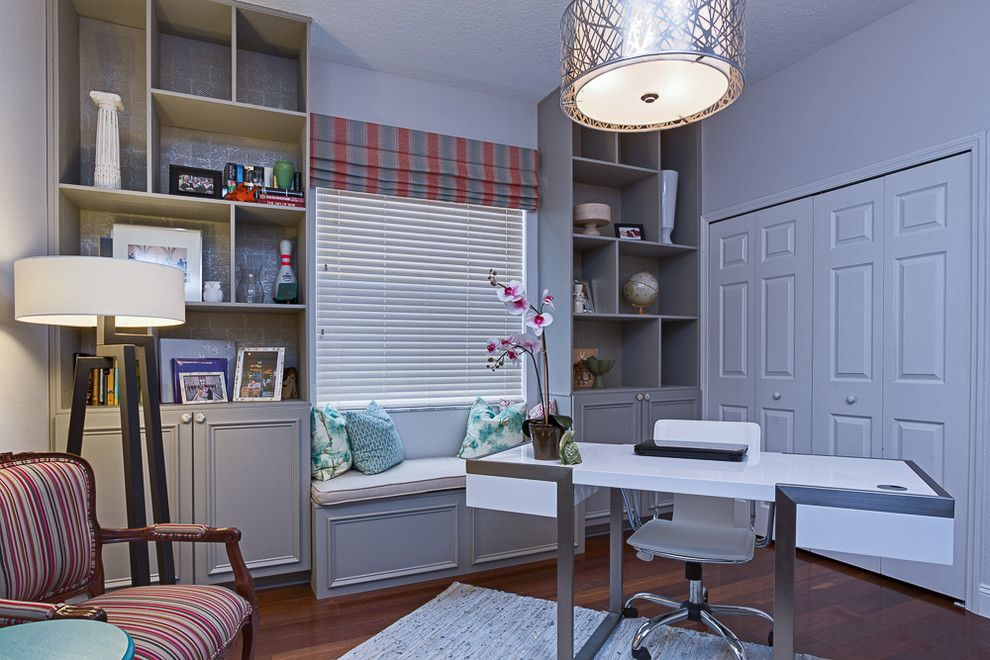 Craftmaster Furniture For A Eclectic Home Office With A Vintage Furniture  And Modern Mixage Makeover By A.Clore Interiors