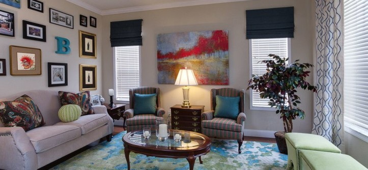 Craftmaster Furniture for a Eclectic Living Room with a Vintage Furniture and Modern Mixage Makeover by A.Clore Interiors