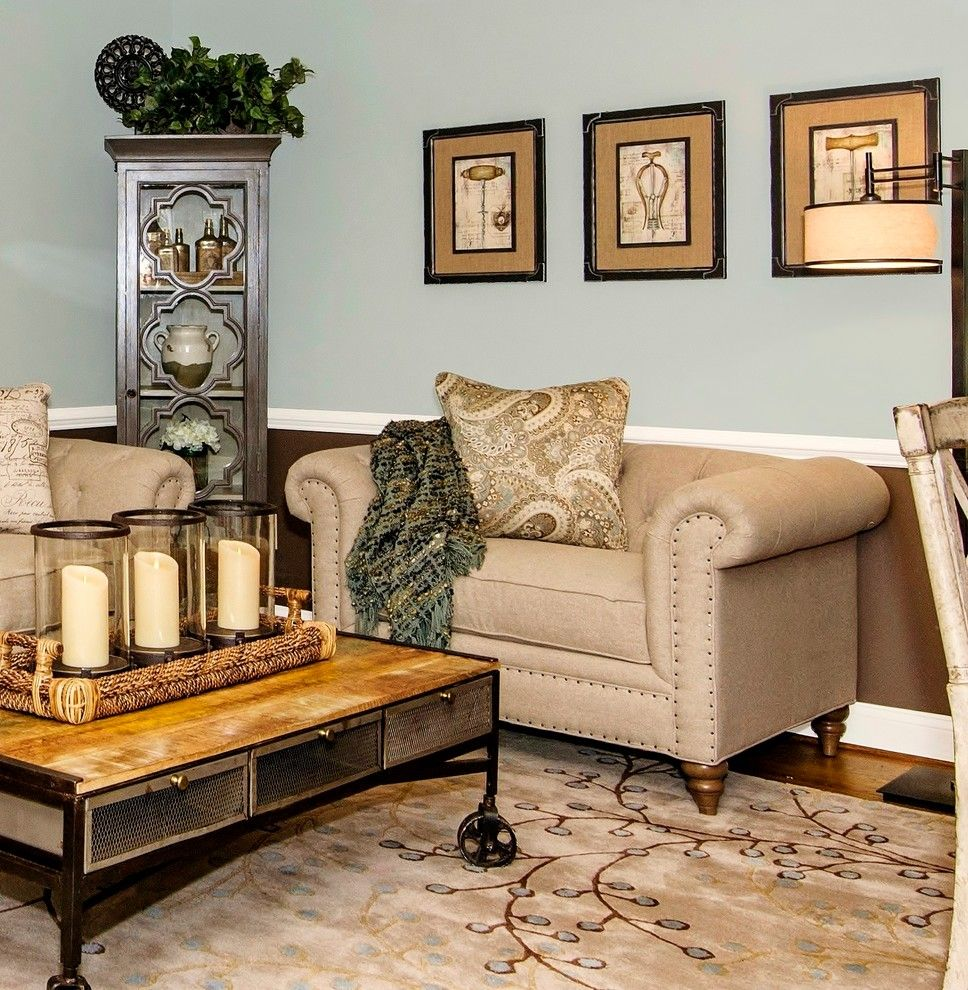 Craftmaster Furniture for a Transitional Living Room with a Uttermost and an Un Stuffy Formal Living Room by Ltb Designs