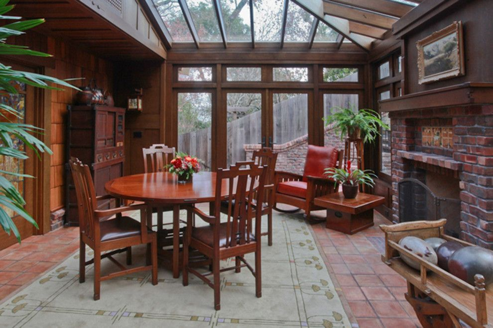Craftsman Bungalow for a Craftsman Dining Room with a Solarium and Marin Craftsman Bungalow Jewelbox by Soyoung Mack Design, Assoc. Aia