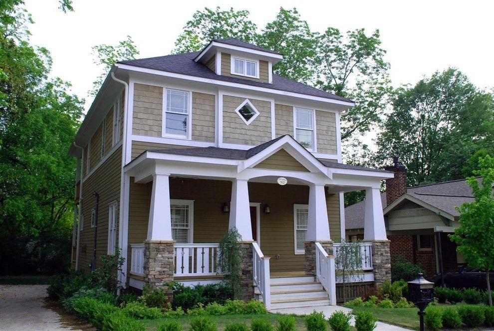 Craftsman Bungalow for a Craftsman Exterior with a Cottages and a New Craftsman Bungalow with Historic Charm. by Brooks Ballard