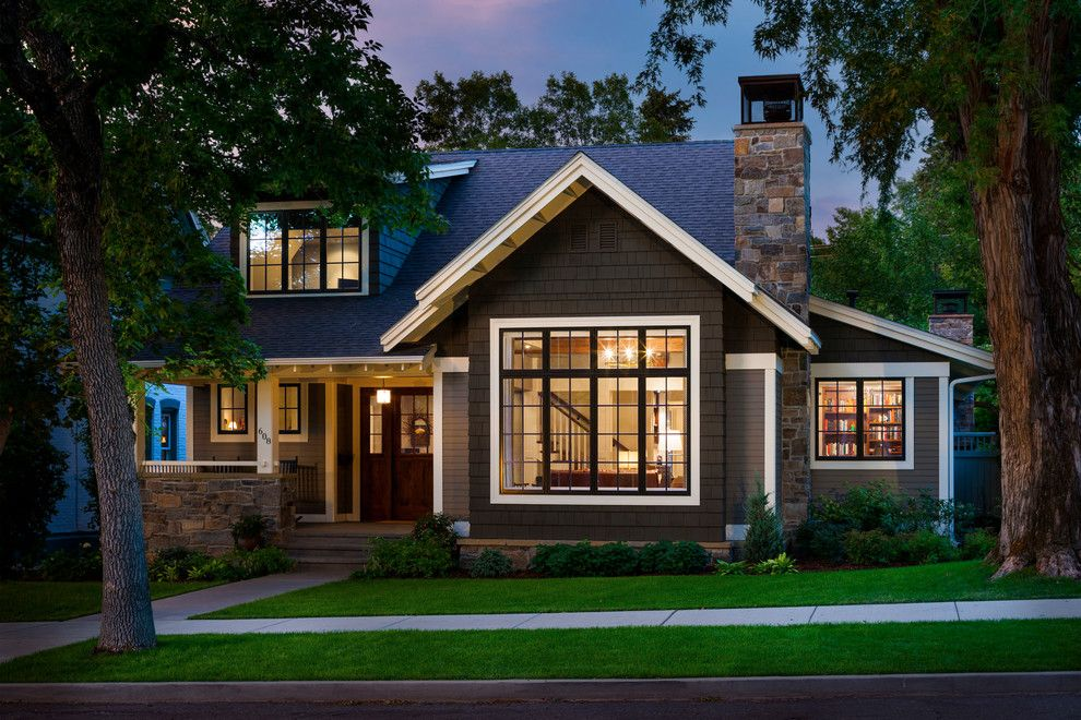 Craftsman Window Trim for a Traditional Exterior with a Stone and Bon Ton Residence by Locati Architects