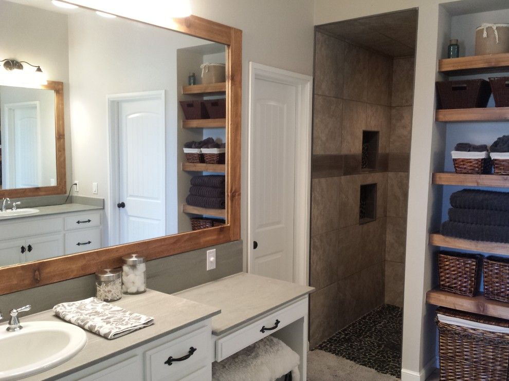 Craiglist Oklahoma City for a Rustic Bathroom with a Pebble Floors and Piedmont Custom by Punnett Construction