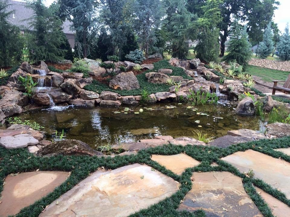 Craiglist Oklahoma City for a  Spaces with a Plant Pots and Planters and Ecosystem Ponds and Water Garden Service by Continental Ponds, Oklahoma City Met by Continental Ponds