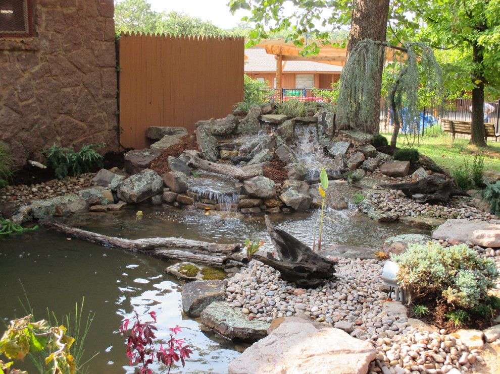 Craiglist oklahoma city for a traditional landscape with a for Garden pond unlimited