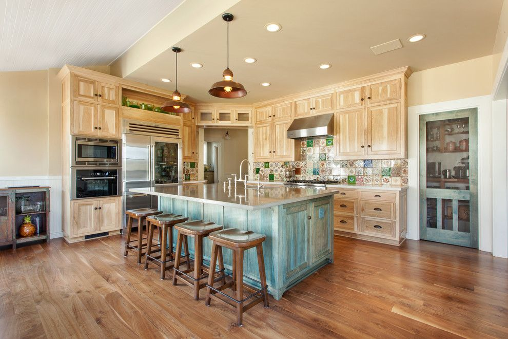 Craigslist San Luis Obispo for a Traditional Kitchen with a Colorful Backsplash and Historical San Luis Obispo Home by Holland & Knapp Construction