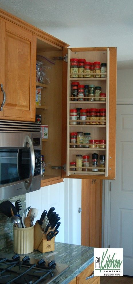 Craigslist San Luis Obispo for a Traditional Kitchen with a Stainless Appliances and San Luis Kitchen Co., Maple Spice Rack by San Luis Kitchen Co.