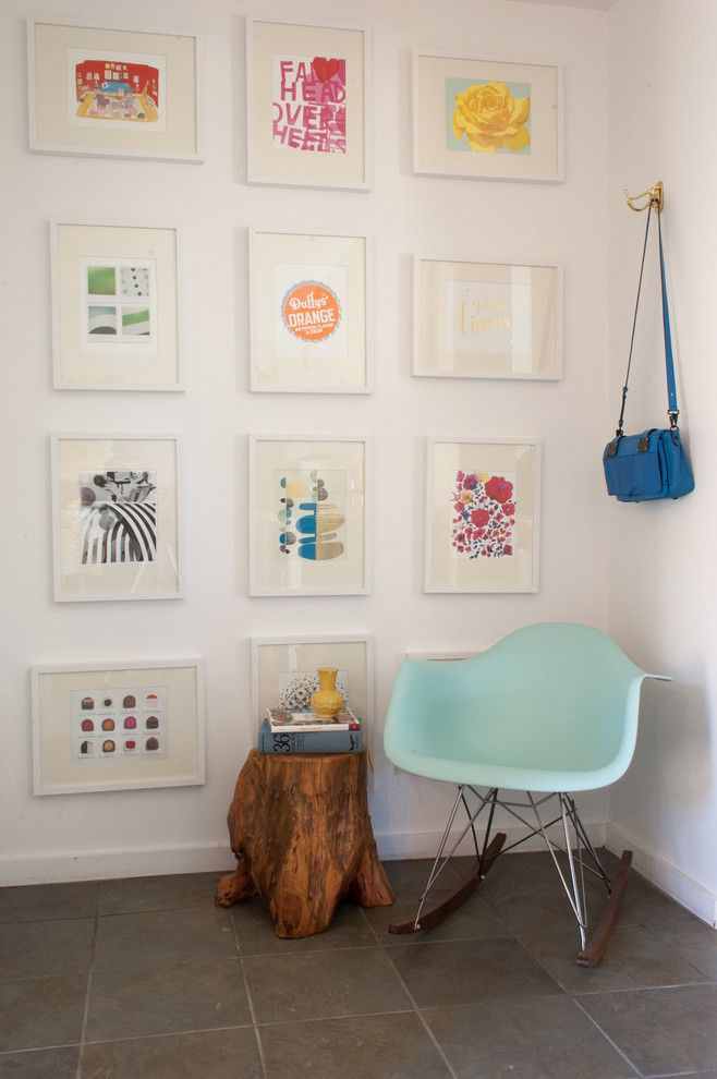 Craigslist Sby for a Scandinavian Entry with a Frame Collage and My Houzz: Steve and Amber Frazee by Angela Flournoy