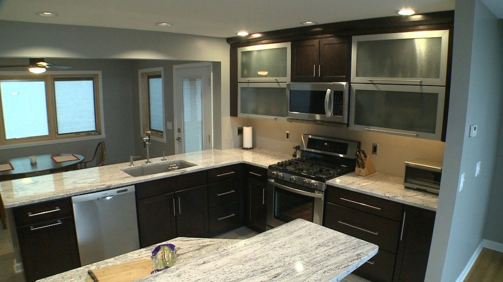 Crema Pearl Granite for a Contemporary Kitchen with a Stainless Steel and Jay M by Curtis Lumber Ballston Spa