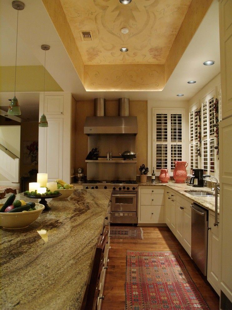 Crema Pearl Granite for a Traditional Kitchen with a Window Shutters and Pemberton Heights by Greg Logsdon